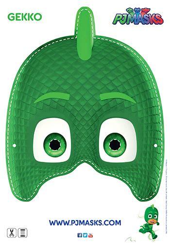 pj masks template pj masks gecko mask printable bub hub