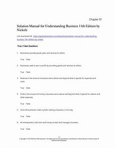 Solution Manual For Understanding Business 11th Edition By