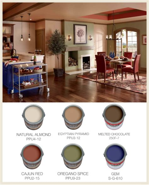 colorfully behr color for open floor plans