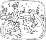 Coloring Playtime Sandbox Freecoloringpagefun Kaban sketch template