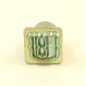 12mm decorative letter u embossing stamp artisanleather With single letter embosser