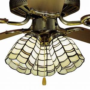 Meyda tiffany sea scallop fan light shade
