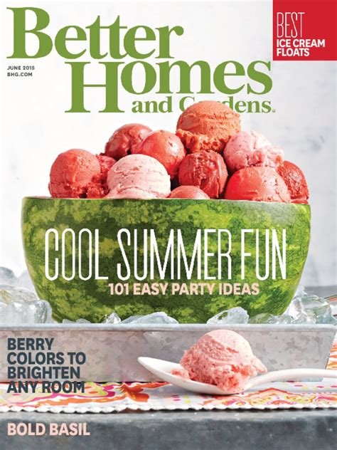 better homes and gardens magazine cover better homes and garden walking on sunshine recipes