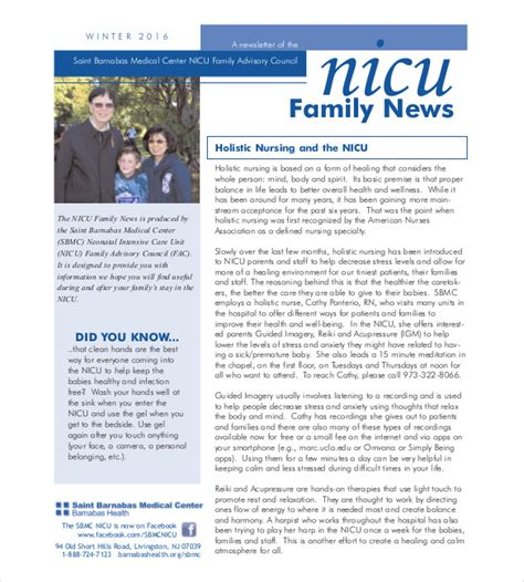 family newsletter template  psd  documents