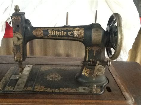 white family rotary treadle sewing machine pre renovation
