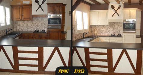 relooker une cuisine en chene massif meuble cuisine rustique avantaprs rnover sa cuisine en 2
