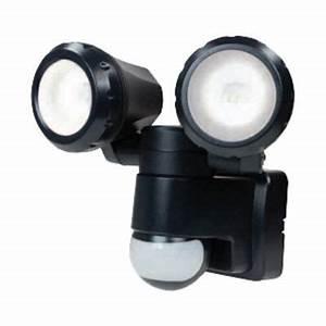 Projecteur Led Castorama : projecteur ext rieur d tection imara noir 2x5w led int ~ Melissatoandfro.com Idées de Décoration