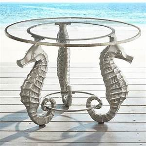 seahorse champagne glass accent table With seahorse coffee table
