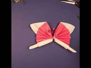 Pliage Serviette Moulin A Vent : anniversaire pliage de serviette papillon ~ Melissatoandfro.com Idées de Décoration