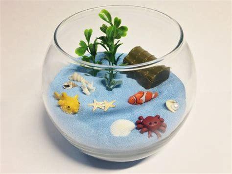 miniature fishbowl terrarium desktop beach zen garden