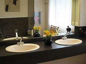 Salle De Bain Plan De Travail : salle de bain plan de travail de salle de bain classique ~ Melissatoandfro.com Idées de Décoration