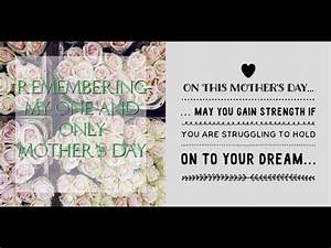 Mother's Day 2017- Remembering My One And Only Mother's ...