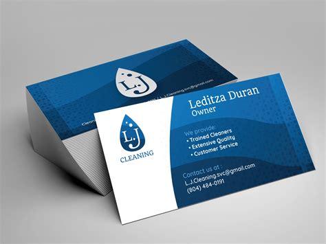 lj cleaning business card   orangel bustamante