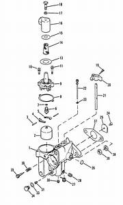 Mercury Marine 4 5 Hp  1 Cylinder  Carburetor Assembly