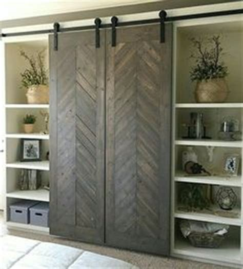 Wood Farmhouse Barn Door Bookcase   Barn doors, Metal