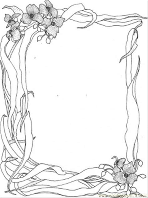 wild nature frame coloring page  decorations