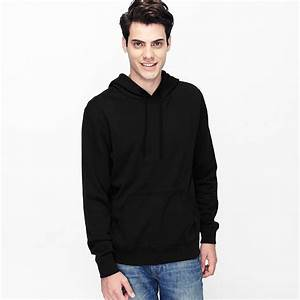 VANCL Paolo Plain Pullover Hoodie Men Black SKU ...