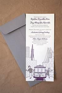 kristen jay39s modern illustrated san francisco wedding With letterpress wedding invitations san francisco