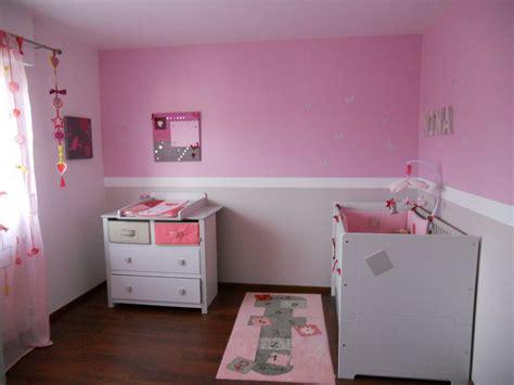 deco chambre fille rose  gris