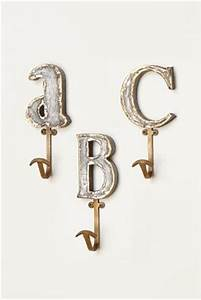 marquee letter hook anthropologie home furniture With anthropologie wall letters