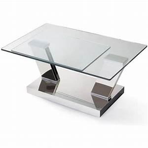 Table Basse Carrée Design : table basse carr e ronde ou rectangulaire au meilleur prix table basse design twin glass ~ Teatrodelosmanantiales.com Idées de Décoration