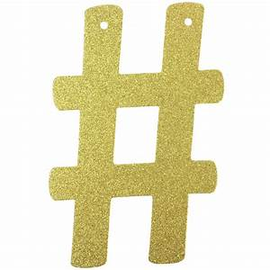 glitter letter garland gold hashtag With gold letter garland