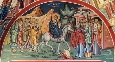 filetsveti ulazak khrista  jerusalim church fresco