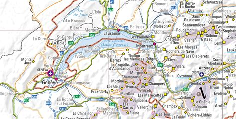 Rhythm And Alps Travel Map Directions And Location Paper Ski Resort Map Of The Alps Produced Inthesnow