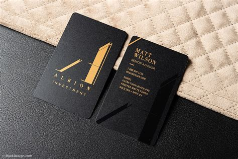 black pvc business cards