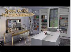 WALKIN CLOSET The Sims 4 Speed Build YouTube