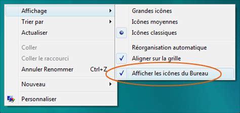 comment faire apparaitre les icones sur le bureau cacher une ou plusieurs icônes du bureau seven vista xp