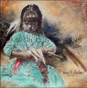 Mothers Little Helper original painting by Virgil C stephens