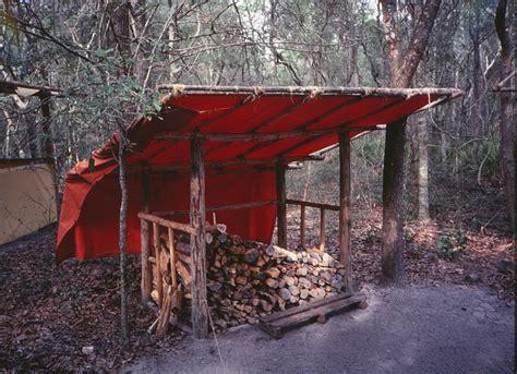 wood tent   build  cabin love pinterest