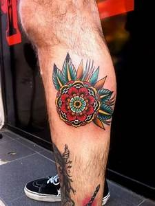 28+ Traditional Calf Tattoos