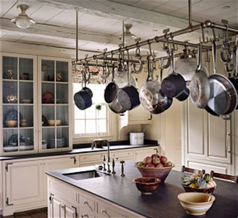 kitchen island with hanging pot rack best racks for hanging pots and pans 9437