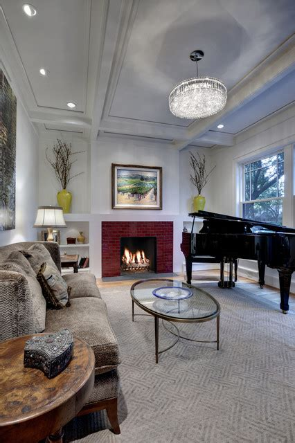 creative ways   decorate living room  piano
