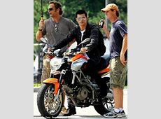 Twilight's Taylor Lautner is a macho motorcycle man in new