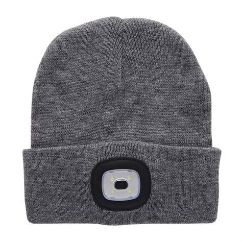 beanie with light 4 led light cap knit beanie hat with 2 batteries outdoor