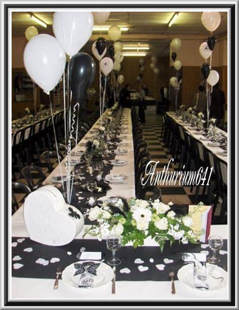 d 233 coration salle de mariage noir et blanc de anthurium641