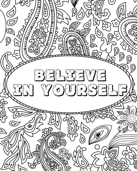 Printable Coloring Quotes by Inspirational Quotes Colouring Pages By
