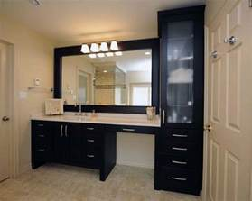 small shower toilet linen closet with double vanity sink