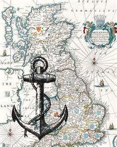 England Vintage Nautical Maps