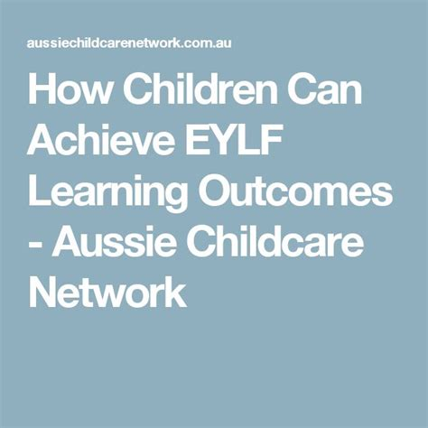 1000 ideas about eylf learning outcomes on 193 | 69e9856f2df212593ada83b32821374b