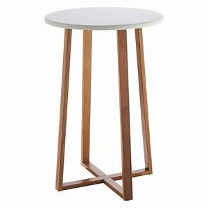 Habitat, Drew, Bamboo, And, White, Lacquer, Tall, Side, Table