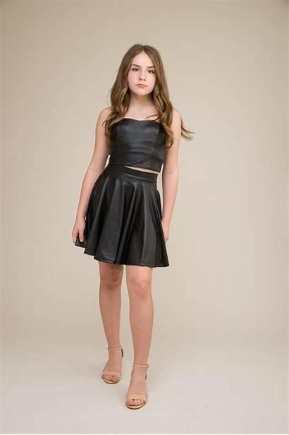 Pleather Skirt Dresses Skater Longer Length