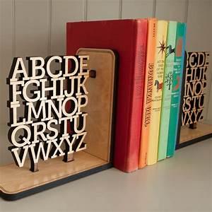 Alphabet, Wooden, Bookend