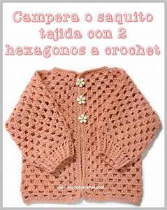 Saquito A Crochet Para Beb U00e9 Tejido Con 2 Hex U00e1gonos  Patr U00f3n