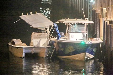 Boat Crash Florida Keys two boats collide on intracoastal waterway in fort