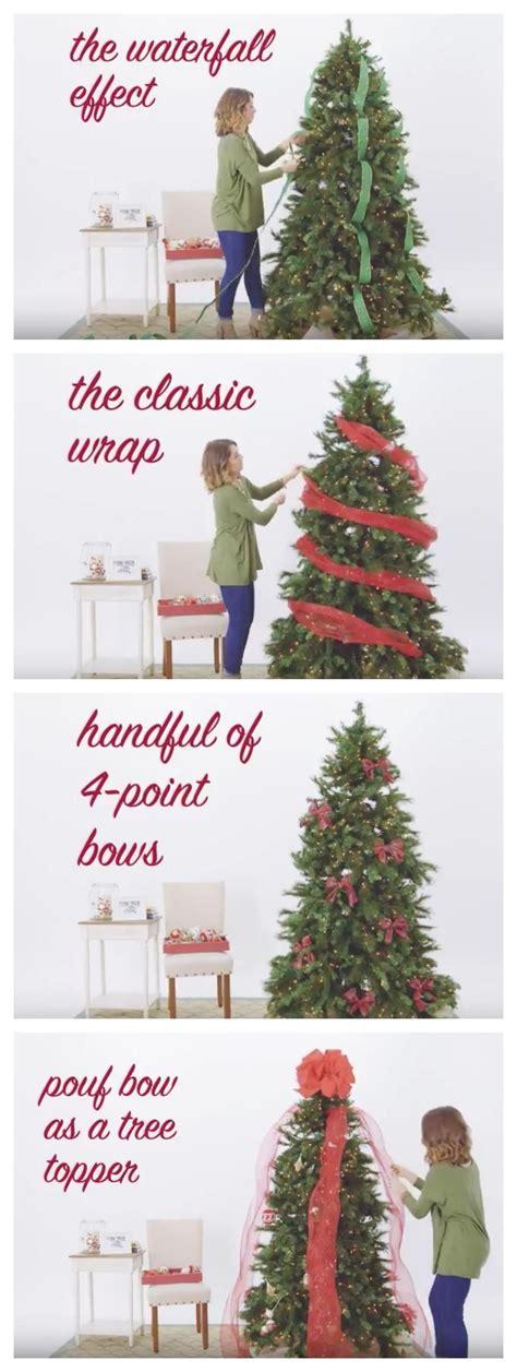 video  ways   ribbon   christmas tree