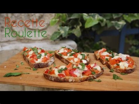 bruschetta tomates  mozzarella youtube